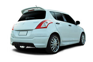 SUZUKI SWIFT PAINTED WHITE SPOILER 2011-2017 HIGH QUALITY PLASTIC