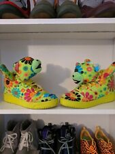 premium selection b41dd 4e9ea Adidas Jeremy Scott Flower Power Hippy Teddy Bear, G61076, Size 10.5, RARE!