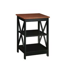 Convenience Concepts Oxford End Table, Cherry/Black - 203085CH