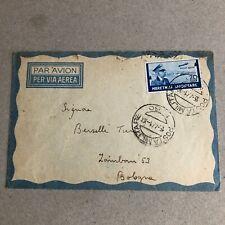 F) Bustaoccupazioni Albania franchigia posta militare 60 1941 via aerea