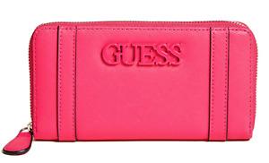 NEW GUESS Alastair Womens Wallet Logo Zip-Around Clutch Purse Pink BNWT