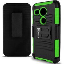 For LG Nexus 5X Belt Clip Case Neon Green / Black Holster Hybrid Phone Cover