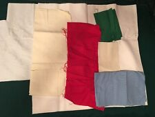 22 count hardanger counted cross stitch fabric white,red,green large pieces lot