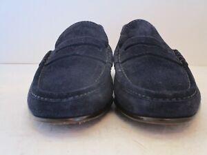 Men's $995 NWOB Ralph Lauren Chalmers Italian Navy Suede Loafers Size 11.5 D
