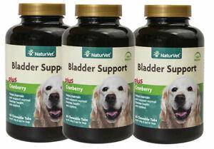NaturVet Senior Dog Natural BLADDER SUPPORT with Cranberry 60 Tablets 3 PACK