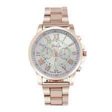 Luxury Roman Number Geneva Stainless Steel Quartz Sports Dial Analog Wrist Watch