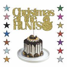 Family Christmas Cake Topper, Personalised Xmas Cake Topper Glitter Xmas Decor