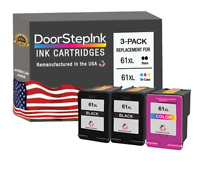 61XL 2 Black 1 Color Ink Cartridges for HP Printers  DeskJet 1510, 2542, 2514