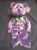 TY EMPLOYEE Bear Ty Beanie Buddy - MWMT - Free Shipping