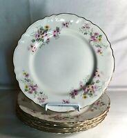 "6 Homer Laughlin Republic Shape Floral Pattern 10 1/4"" Dinner Plates"