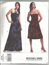 Vogue Designer Sewing Pattern 2740 Michael Kors Dress, Sizes 8 -12, Uncut