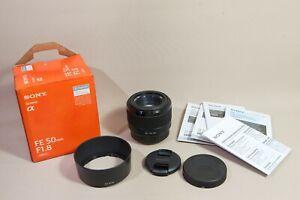 Sony FE 50mm F1.8 E-mount OVP, nahe neu. Near new condition, Sony boxed