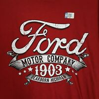 Red Ford Motor Company 1903 Dearborn MI Size 2XL T-Shirt