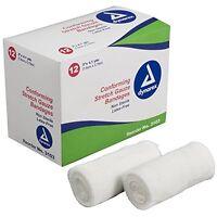 "Dynarex Stretch Gauze Conforming Bandage, 3""x 4.1', 8/12 Ct, 3103 - CASE OF 96"
