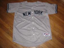 DEREK JETER #2 NEW YORK YANKEES VINTAGE JERSEY GREY NYY MAJESTIC 2009 INAUGURAL