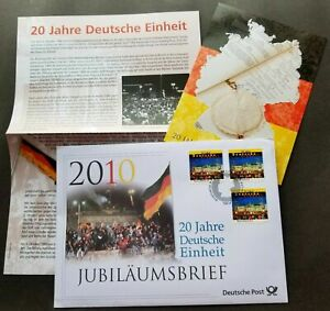 [SJ] Germany 20th Anniversary Of Re-unification 2010 (postcard + FDC)