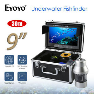 "EYOYO 9"" 360° 1000TVL Fishfinder Underwater Viewing With Sunshade 18PCS IR Led!"