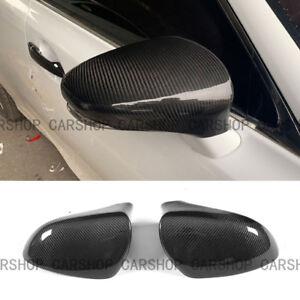 For LEXUS GS350 GS450H 13-18 Dry Real Carbon Fiber Door Side Mirror Cover Cap