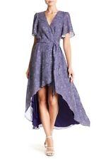 Parker Wrap Dress Hi-Low Ruffle Stargazer Wrapped Maxi Spring Floral MSRP: $425