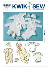 Kwik Sew K2433 Infants Rompers, Jumpsuits, Cap & Booties XS-XL BN