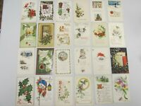 PClot3 Vintage postcard lot of 24 Christmas Xmas 1910s mostly teens