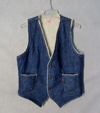 Z8962 Men's Levi's Blue Jean w/ Sherpa Lining Orange Tag Vest-M