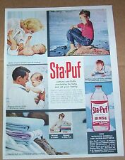 1962 print advertising -Staley's Sta-Puf diaper baby laundry boy jeans AD Advert