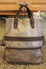 Fossil Bronze Metallic BRONZE EXPLORER  Flap Tote Satchel Bag (PU100