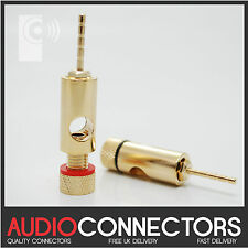 2 x 2mm HI-FI AUDIO pin connettore / ADATTATORE-SPINA BANANA, spade, via cavo (PJ1)