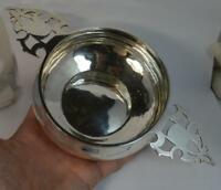 1913 Antique Chester Silver Two Handled Bowl