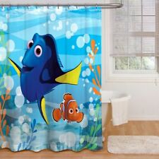 "Disney Pixar, Finding Dry ""Adoryble"" Shower Curtain 70"" x 72"""