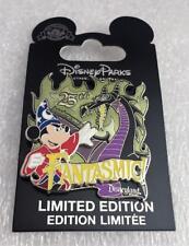 Disney DLR Fantasmic 25th Anniversary Sorcerer Mickey Maleficent Dragon LE Pin