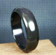"2.22"" Genuine Natural Rainbow Obsidian Gemstone Bangle AAA Inner Diameter 56mm"