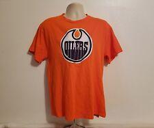 Edmonton Oilers Majestic Mens Large Orange Hockey T-Shirt