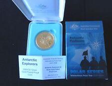 2009 ARGENTO PROOF ORO PLACCATO aus $5 MEDAGLIA BOX'S + COA ANTARTICO ESPLORATORI 1/500