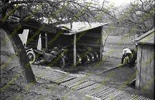 Foto, Negativ, Krad, Gespann, Motorrad Unterstand, 19 (N)19346