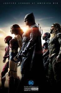 Justice League 10 comic book 2017 SDCC exclusive silver foil movie cover variant