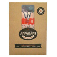 Apiwraps Beeswax Food Wraps : Eco Friendly Kitchen Reusable Wrap - Top Quality