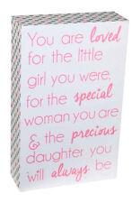 Inspirational Precious Daughter Little Girls  Wall Deco  Shelf Block Wooden Sign
