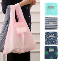 5pcs FOLDABLE WATERPROOF Reusable Shopping Storage Bags Handbags Grocery Bag