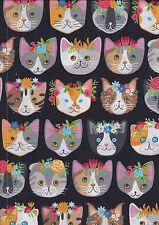 Whiskers & Tails fabric half metre - Robert Kaufman fabric - 50 x 110 cms