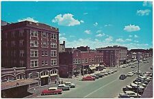 Downtown Street Scene in Columbia MO Postcard 1965