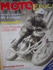 Moto D'Epoca n°1 1995 Storia e tecnica MV 4 cilindri - Cross Guzzi 500 [SC.63]