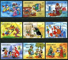 Anguilla 596-604, Disney characters Christmas in England 1985 SCV-$19.50. x10514