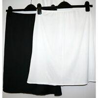 New ex M&S Plain Waist Slip Slinky Long Underskirt Half Slip
