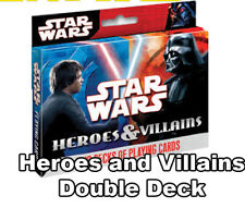 STAR WARS - Heroes & Villains Playing Cards (Cartamundi) #NEW