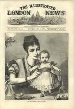 1873 My First Christmas Toddler Drawn By A Hunt