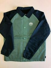 Vans New Torrey Boys Lightweight Button Down Jacket Youth Boy's Size Medium Blue