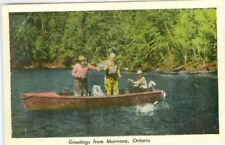 Marmora ON Canada Landing a Big One, Fishing Greetings from Marmora