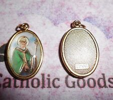 St. Saint Patrick Italian 1 inch Gold Tone and Enameled - Medal
